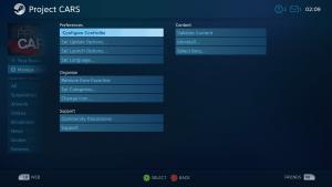 เลือกเกมส์ในคลังเกมส์ STEAM แล้วเลือก Manage Game เพื่อตั้งค่า Steam Controller