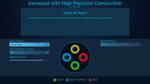 Steam Controllerพื้นฐานของการตั้งค่าปุ่มกด