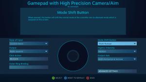 Steam Controller ตั้งค่าในส่วนของ Camera Aim