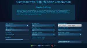 Steam Controller ตั้งค่าใน Mode Shifting