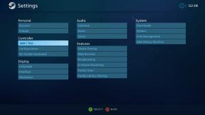 Steam Controller เลือกไปที่ Setting แล้วเลือก Add Test
