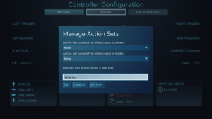 Steam Controller Manage Action Sets