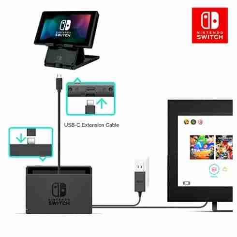 สาย USB 3.1 Type C Male to Female สำหรับ Nintendo Switch