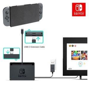 เคส Nintendo Switch กับสาย USB 3.1 Type C Male to Female