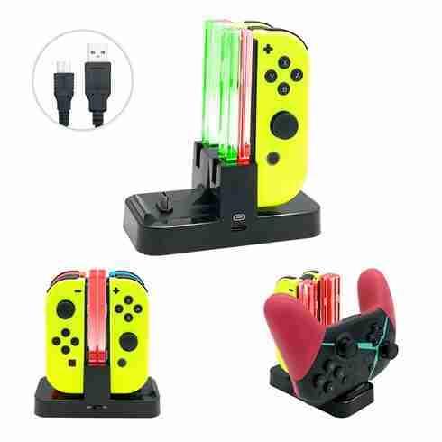 Charging Dock Nintendo Switch Joy Con & Pro Controller ใช้หัวเสียบแบบ USB Type-C