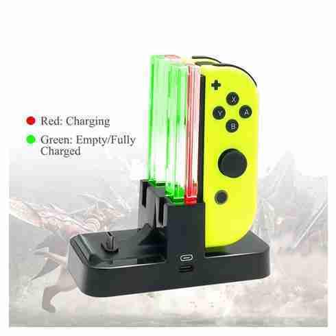 Charging Dock Nintendo Switch Joy Con & Pro Controller มีไฟ LED บอกสถานะการชาร์จ