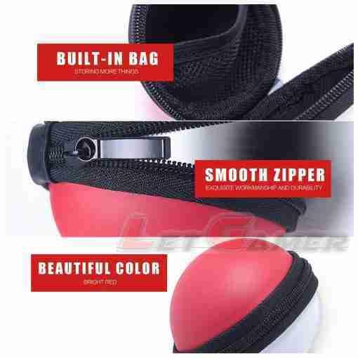 กระเป๋า Poke Ball Plus ด้วยกลไกซิปที่ทนทาน ควบคุมการจัดเก็บ Poke Ball Plus ได้อย่างแน่นหนา